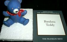 Franklin Mint Teddy Bear Tribute Collection-Bandana-Excell ent Condition-So Cute!