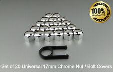 17mm Chrome Alloy Car Wheel Nut Bolt Cover Caps Set X20 For Toyota Auris Aygo