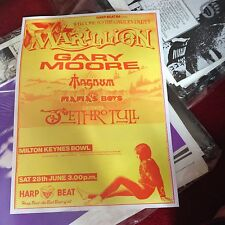 Festival posters Marillion Gary Moore ZZ Top Metallica & Reading promo's