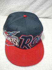 MENS BASEBALL HAT CAP ROCKETS LOGO ADJUSTABLE FORTY SEVEN HARDWOOD CLASSICS RED