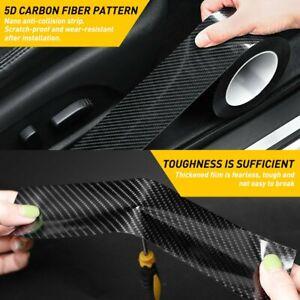 5CM Protector Sill Scuff Cover Car Door Plate Sticker Anti Scratch Bumper Strip