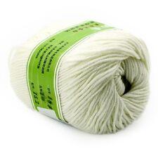 Hot Smooth Soft Worsted Natural Silk Wool Fiber Knitting Baby Yarn Skein 100g