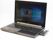 HP 8560w i7-2620m 8 GB RAM 320 GB HDD 1600x900 webcam Windows 10 pro con alemán