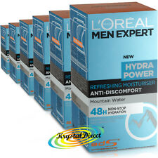 6x Loreal Men Expert Hydra Power Refreshing Moisturiser 50ml
