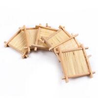 Natural Bamboo Kung Fu Tea Cup Pad Coaster GongFu Teapot Mat Table Cup Holder
