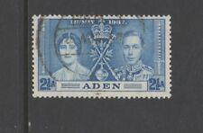 ADEN SG14 1937 CORONATION  2 1/2 a BLUE - Fine Used