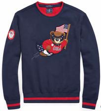 Ralph Lauren 2018 Team USA Olympic Polo Bear Sweatshirt womens S 4/5 or mens XS