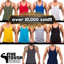 Gym Singlets - Bodybuilding Tank Top Gym Stringer Y-Back Muscle Racerback