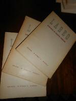 LIBRO:Labeo, rassegna di diritto romano. Quadrimestrale. anno 1962-tre riviste ,