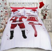 Mr & Mrs Selfie Santa Quilt Cover His Hers Christmas Bedding / Gift ~ FREE P&P !