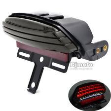 Tri-Bar Fender LED Tail Brake Light For Harley Softail FXST FXSTB FXSTC Smoke