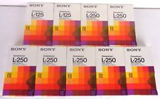 sony dynamicrom l-250 lotto 9 cassette nuove sigillate, new factory saled