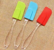"New listing 10x Small Silicone Spatula w/ Plastic Handle 7.7"""