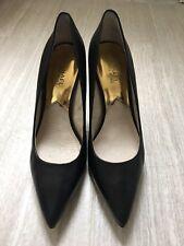 Michael Kors Joselle Black Leather High Heel Pump - Size 8 - Excellent Condition