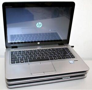 """3x Lot 14"""" HP Elitebook 840 G3 Intel Core i5 6300u 2.4GHz 4GB 128GB AS IS READ !"""