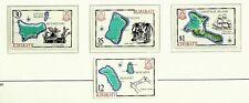 KIRIBATI 1980 ISLAND MAPS SET OF 4v MINT STAMPS