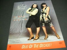 Taste Of Honey Ladies Of The Eighties and Duo Of Decade 1982 Promo Poster Ad