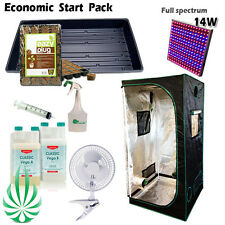 Seeding and Cloning 1m Tent Hydroponics Start Package CANNA LED Light COCO Tray
