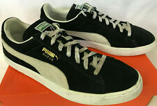 PUMA Suede Classic+ 352634-03 SB Skate Futbol Black Lace Sneakers Shoes Men's 12
