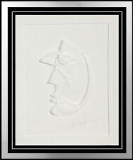 Anthony Quinn Original Vellum Relief Sculpture Dream Girl Hand Signed Artwork