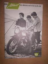 NSU MAX PROSPEKT 1955 MOTO Neckar Sulm Top Oldtimer DA COLLEZIONE