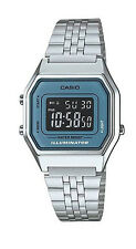 Casio LA680WA-2B Women's Vintage Silver Tone Chronograph Alarm Digital Watch