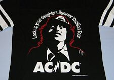 AC/DC RARE Ladies Long Sleeve Shirt '76 Lock Up Your Daughters Tour Repro Size 4