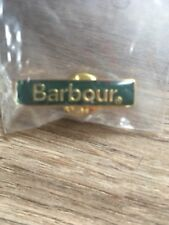 BARBOUR Pin Badge Gold And Green