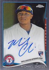 2014 Topps Chrome Michael Choice Texas Rangers Auto Card