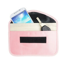 Pink Anti-Tracking RFID Blocker Anti-Radiation Case Wallet-iPhone X 8 8 Plus 7+