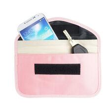 Pink Anti-Tracking RFID Blocker Anti-Radiation Case Bag-iPhone Cell phone etc