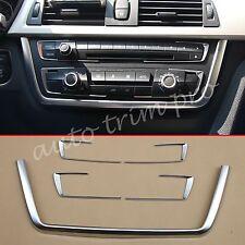 Chrome Auto Dashboard Console Radio Covers Trim For BMW F30 F31 F32 F33 F34 F36