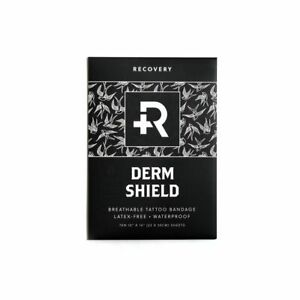 """RECOVERY Derm Shield Tattoo Aftercare Bandages 10"""" x 14"""" Sheets Box of 10"""