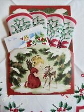 FESTIVE Angel Mailable Handkerchief HOLIDAY Gift Folio ~ Hankie & Enclosure Card