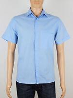 Topman Moto mens short sleeve blue shirt size medium (M5008)