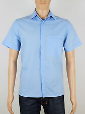 Topman Moto mens short sleeve blue shirt size medium (M5008)