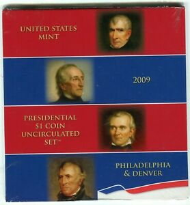 2009 US Mint Uncirculated Presidential Dollar Set of Eight P & D