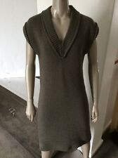 NWT Marc Jacobs Runway Black Label XS Dark Taupe Sweater Tunic Dress $1800 Italy