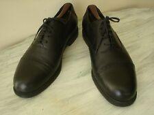 H S Trask Casual Cap Toe Oxford Shoes Black Buffalo Leather 12 M Made Italy EUC