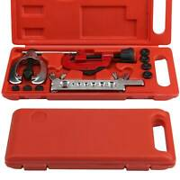 10 PIECE METRIC PIPE FLARING KIT BRAKE FUEL REPAIR TOOL SET + FREE WORK CASE