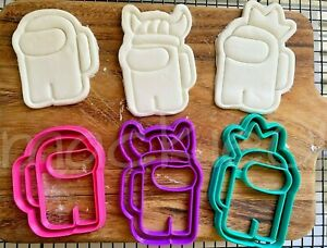 Among Us Cookie Cutters Biscuit Fondant Cutter Embosser Halloween Christmas