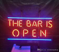 """The Club Is Open Neon Lamp Sign 17""""x14"""" Bar Beer Pub Light Glass Artwork Decor"""