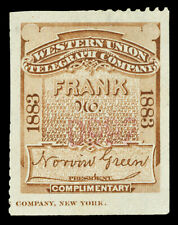 Scott 16T13 1883 Brown Western Union Telegraph Co. Stamp Unused VF NG Cat $27.50