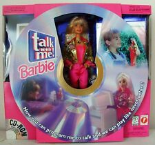 Talk with Me Barbie Doll W Cd ROM & More! 1997 Toy with CD ROM 17350