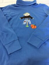 Kellys Kids Turtleneck Shirt Size 7/8 Embroidered Scarecrow Fall Boys or Girls