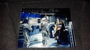 doctor who  tom baker and louise jameson 10x8 autograph photo