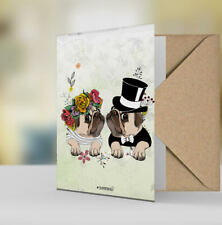 Geschenkkarte Hochzeitskarte Grußkarte Karte pug Mops 19-Geschenkkarte