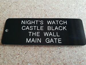 NIGHT'S WATCH KEY RING, GAME OF THRONES, NOVELTY KEY TAG, ENGRAVED