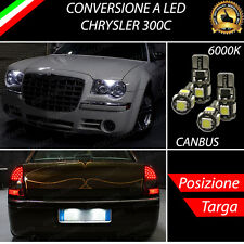 LUCI POSIZIONE A LED + LUCI TARGA A LED CANBUS CHRYSLER 300C NO ERRORE