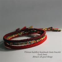 Handgemachte buddhistische Knoten Seil tibetische Armband Glück Seil Armband DE